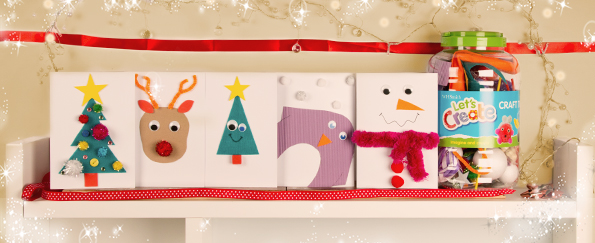 5 Easy Christmas Cards Kids Can Make With One Craft Tub