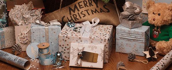 Magical Frozen Christmas Gift Wrap