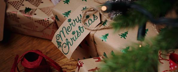 Rustic Kraft Christmas Gift Wrap
