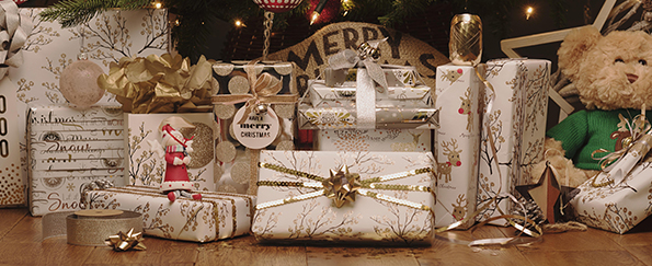 Stylish Metallics Christmas Gift Wrap