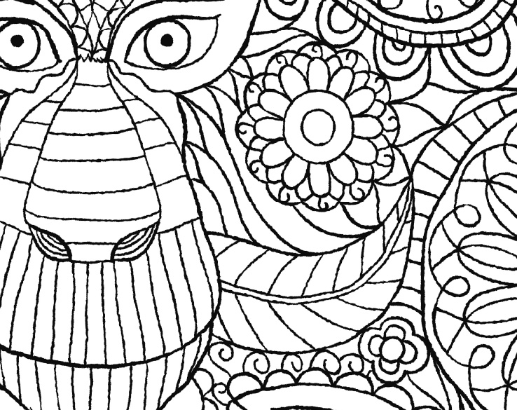 The Macmillan Jungle Book Colouring Book Free Monkey Pattern