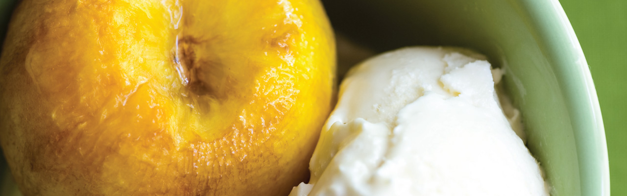 Jackie Collins: Baked Peaches with Cointreau Recipe