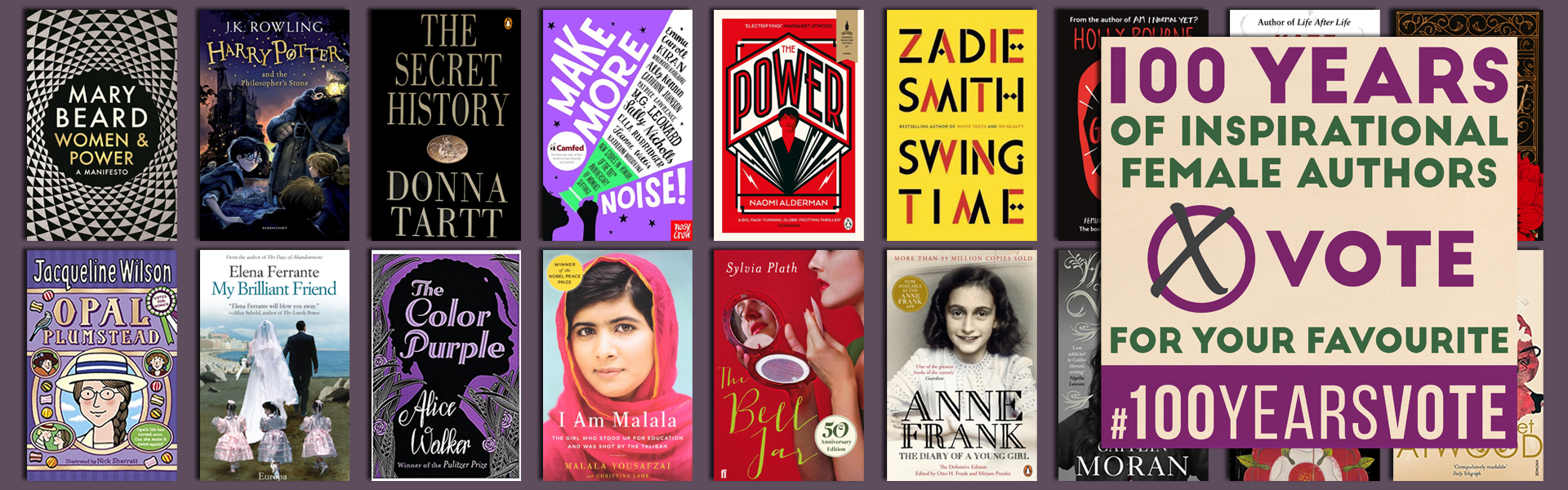 Celebrating 100 Years of Inspirational Female Authors #100YearsVote