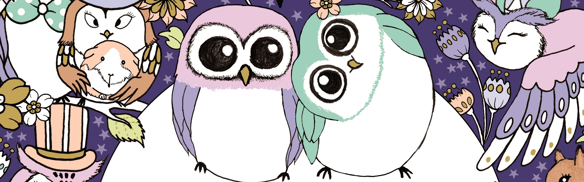 A Million Owls: Fine Feathered Friends to Colour Free Pattern Download