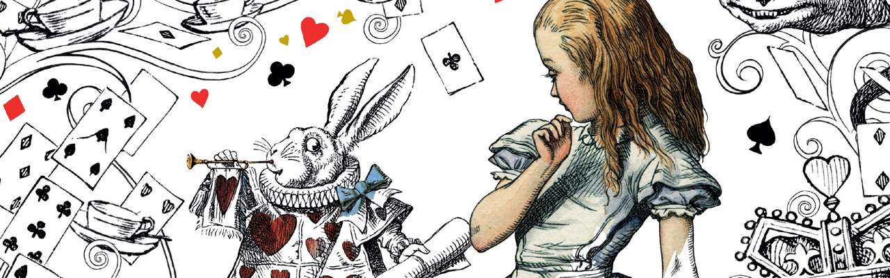 Alice's Adventures in Wonderland Free Colouring Downloads