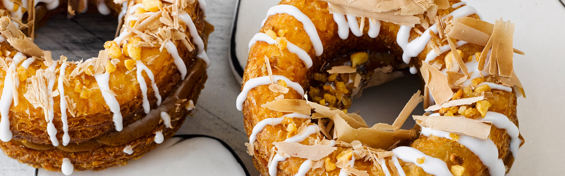 Bake to Impress: Cronuts with Praline Cream Filling and Caramelized Hazelnuts Recipe