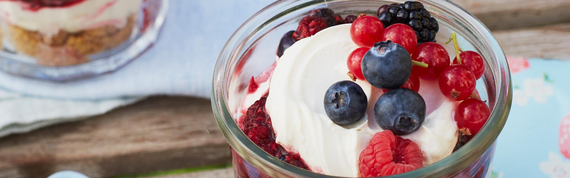 Cath Kidston: Berry Cheesecake Jars Recipe
