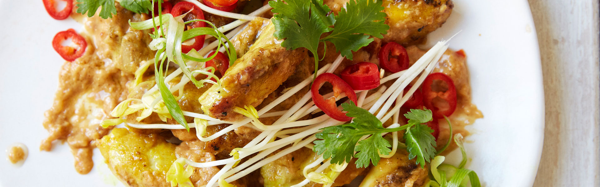 Ching He Huang Satay Chicken Stir Fry With Spicy Coconut Peanut