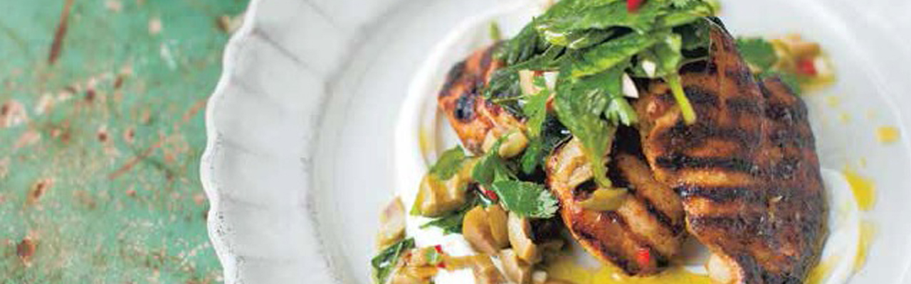 Diana Henry: Recipe for Turkish-Spiced Chicken with Hot Green Relish