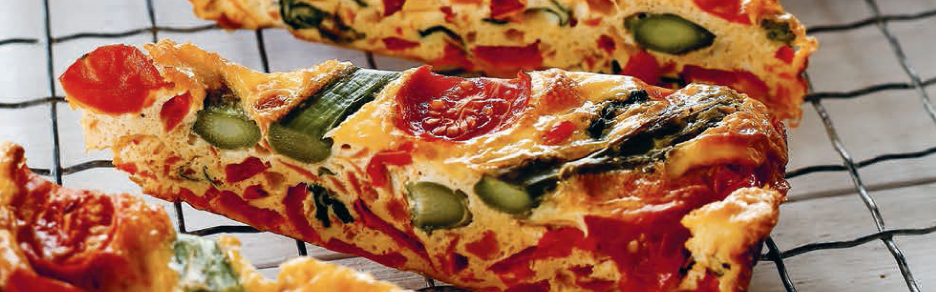 The Foodie Teen: Asparagus and Tomato Frittata Slice Recipe