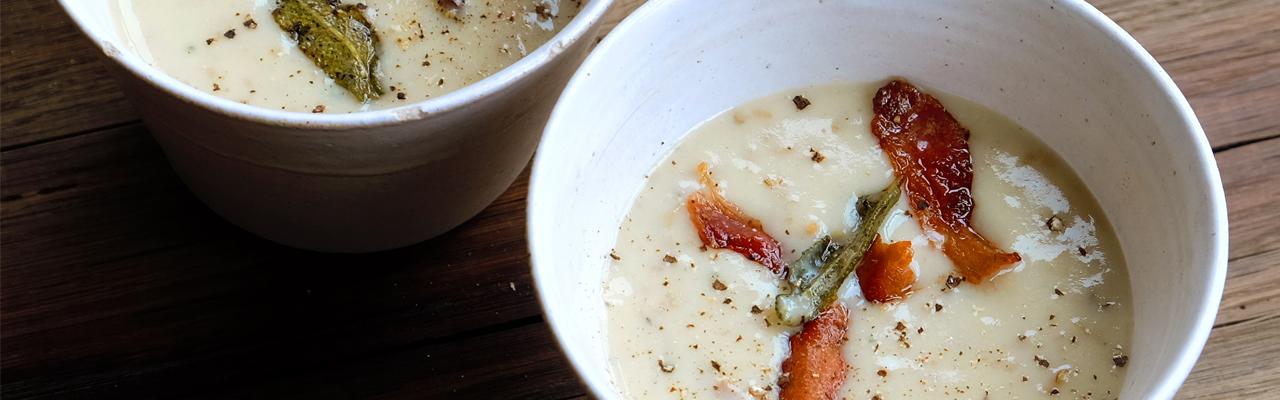 Hugh Fearnley-Whittingstall: Potato Peel Soup Recipe