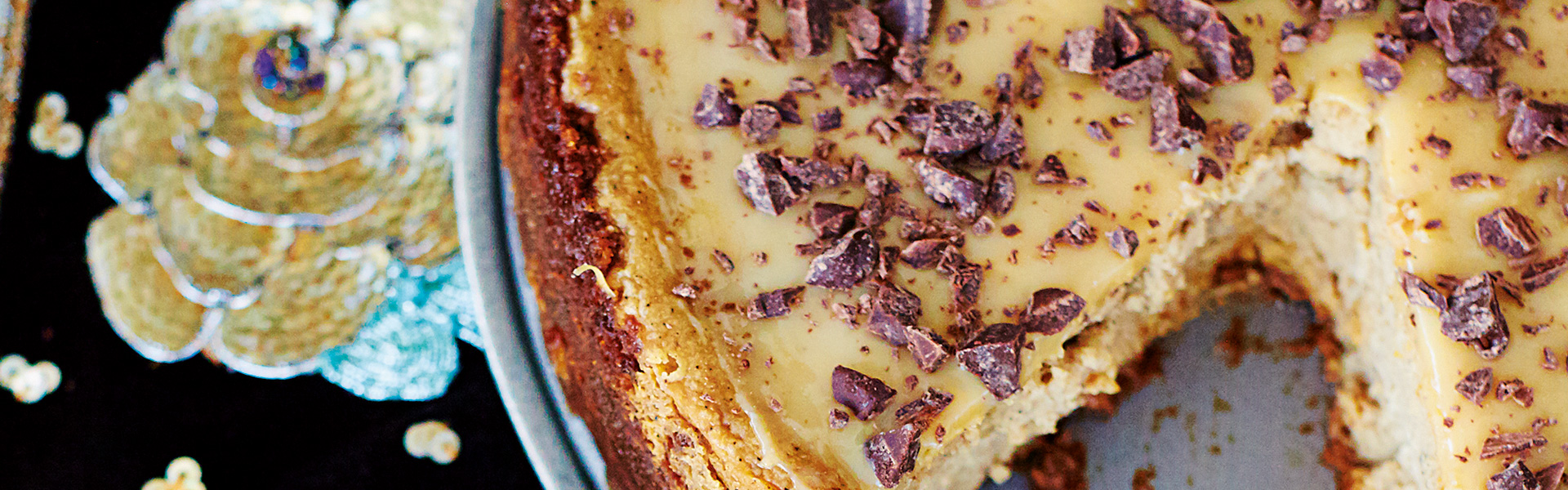 Kelis: Cappuccino Cheesecake  with Gingernut Base and Dulce de Leche Topping Recipe