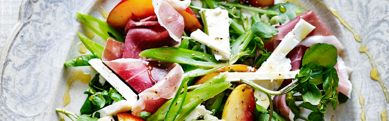 Madeleine Shaw: Grilled Nectarine, Parma Ham and Runner Bean Salad Recipe