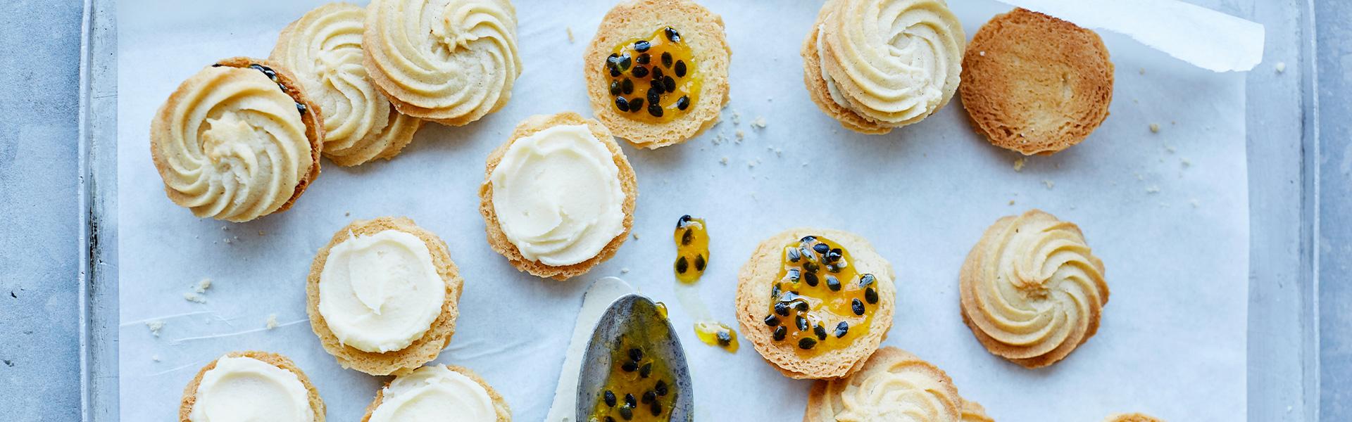 Martha Collison: Passionfruit Viennese Whirls Recipe