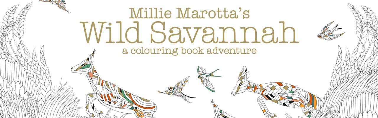Millie Marotta's Wild Savannah Free Pattern Download: Warthog