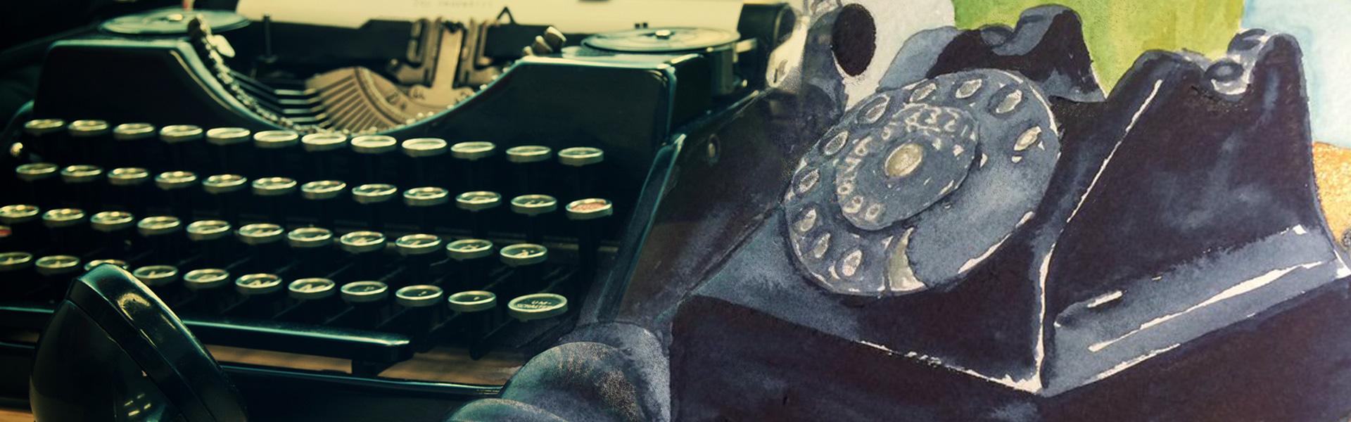 Your Typewriter and Telephone Live Sketches #SketchOff #MakeAStartInArt