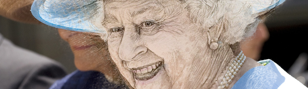 Your Queen Elizabeth II Live Sketches #SketchOff #MakeAStartInArt