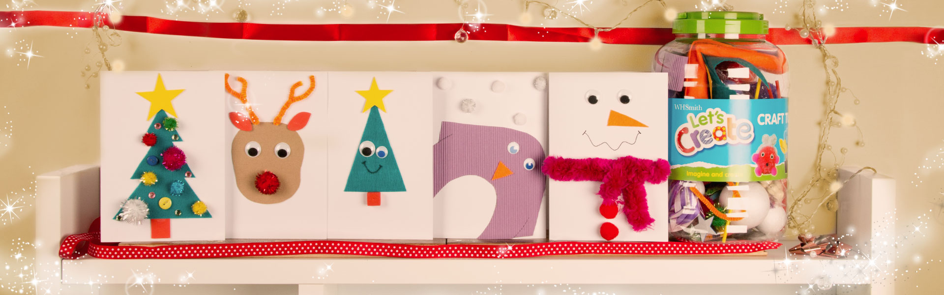 5 Easy Christmas Cards Kids Can Make With One Craft Tub - WHSmith Blog