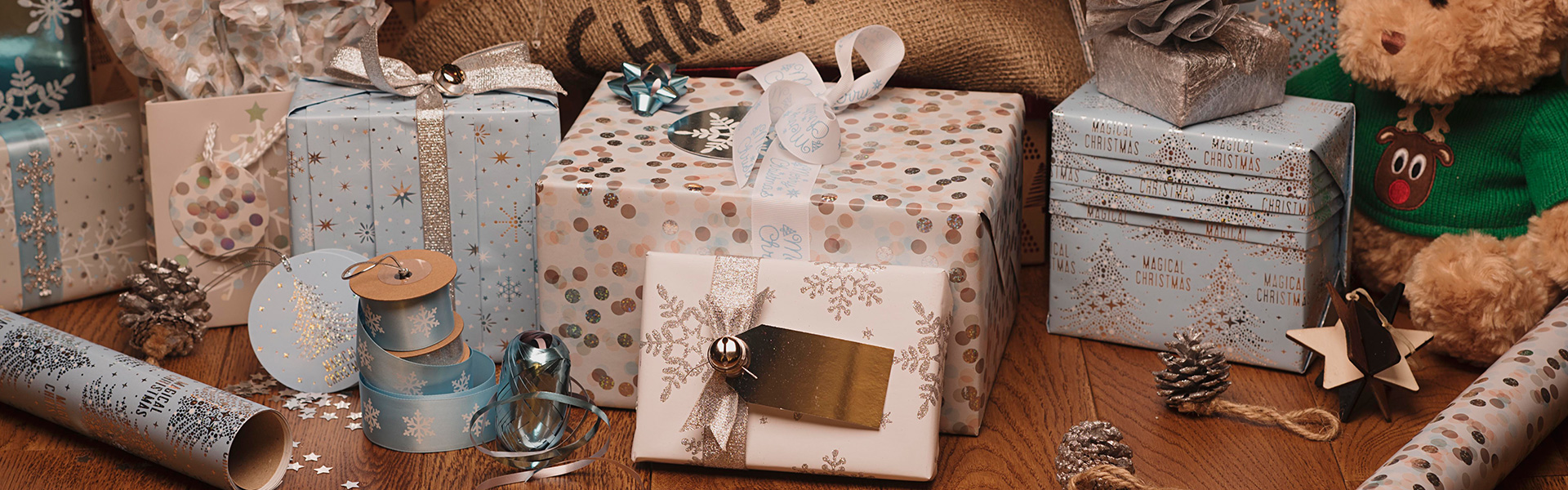 Magical Frozen Christmas Gift Wrap