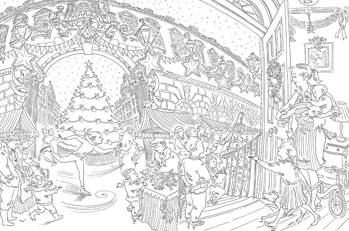 Paul Cox's Christmas Colouring Book Free Pattern Download ...
