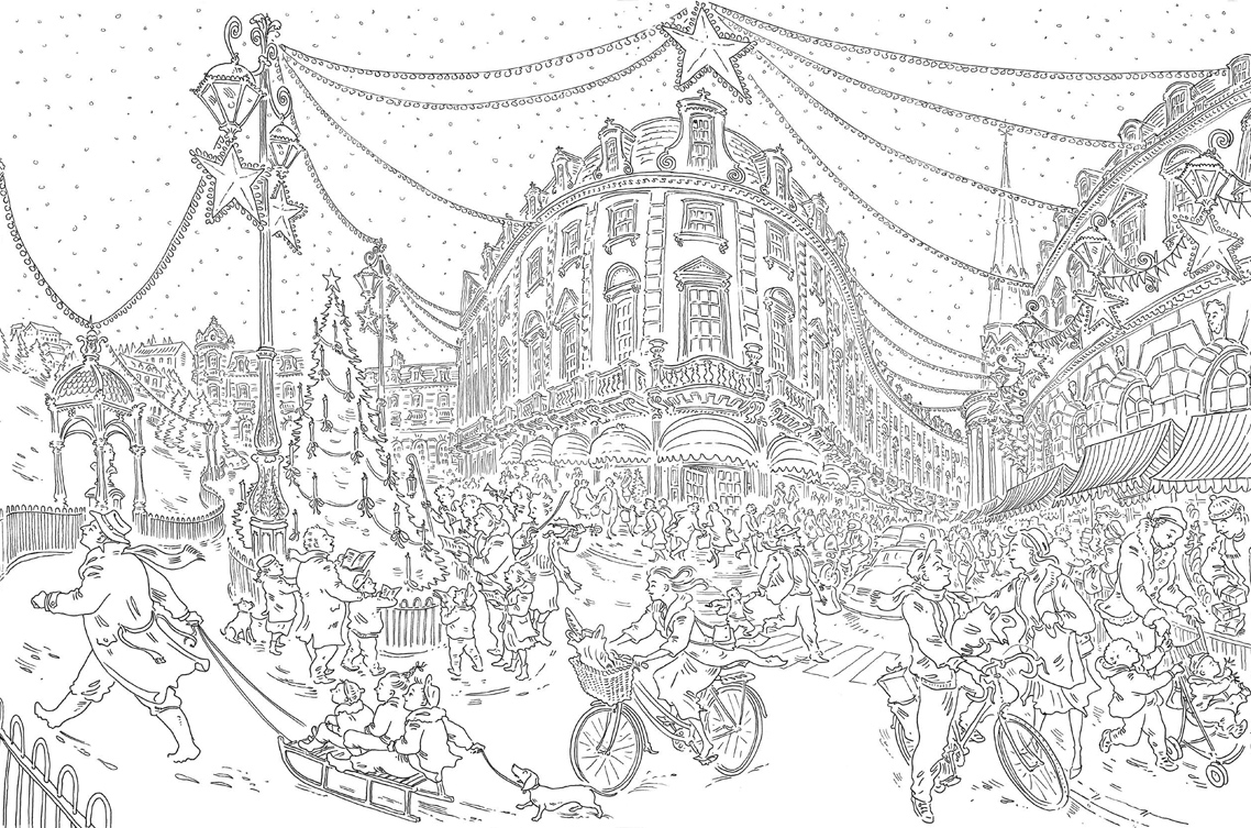 Paul Cox\'s Christmas Colouring Book Free Pattern Download - WHSmith Blog