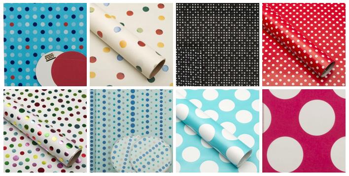 New! Polka Dot Gift Wrap Inspiration