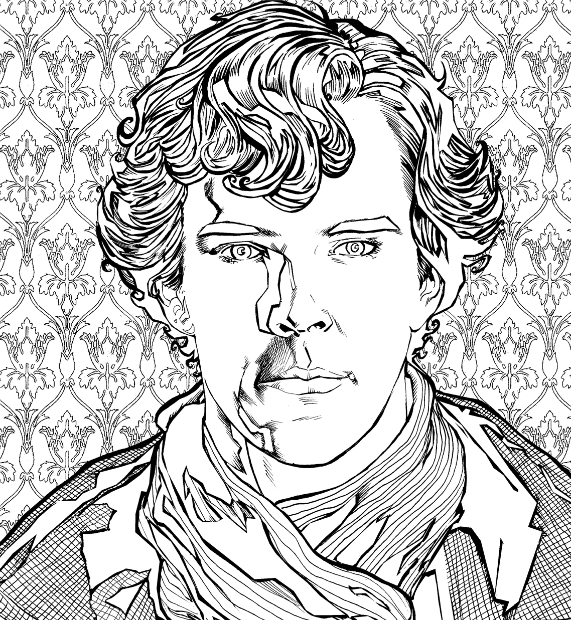 Sherlock The Mind Palace Free Colouring