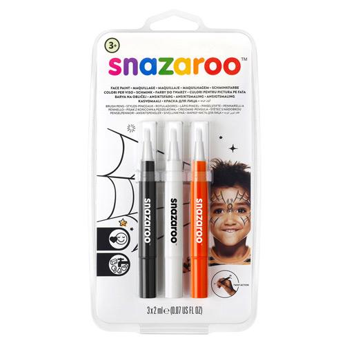 Snazaroo Halloween Brush Pen Set (Pack of 3)