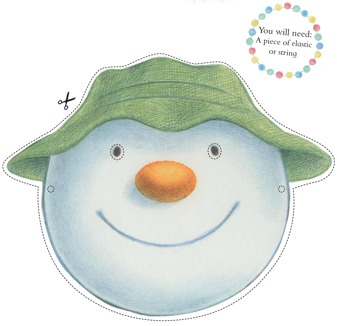 The Snowman and the Snowdog Free Mask Downloads WHSmith Blog