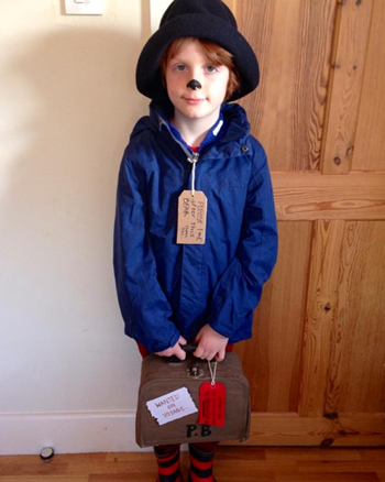 Amazing book character costumes youll want to try for yourself make your own suitcase by painting a cardboard craft case brown before adding stickers or homemade labels dont forget a please look solutioingenieria Images