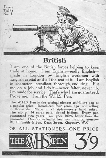 Advert for the WHS pen